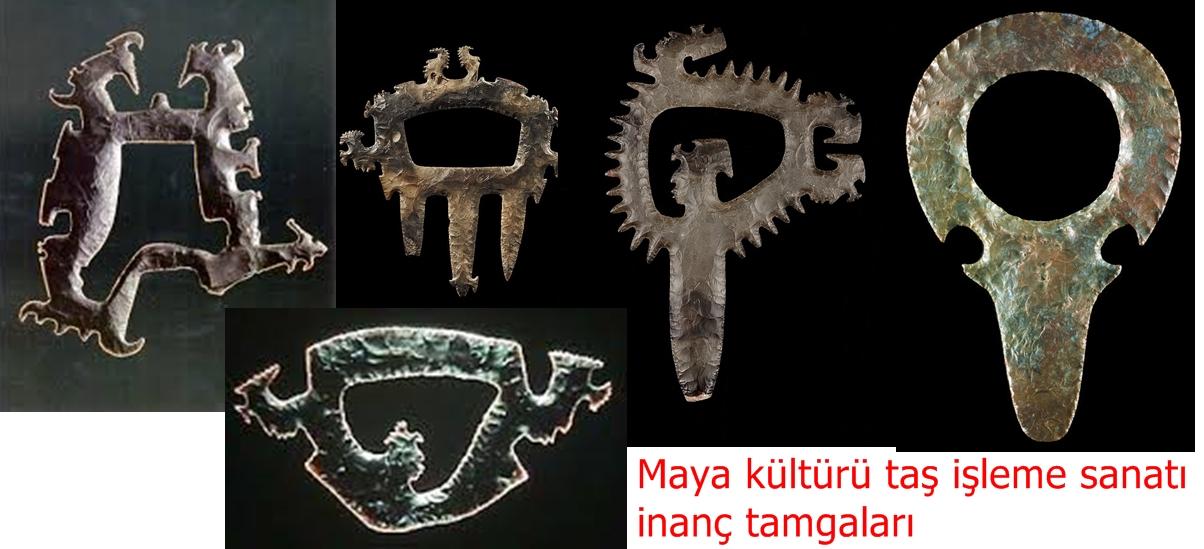 Maya kültürü taş işleme sanatı inanç tamgaları